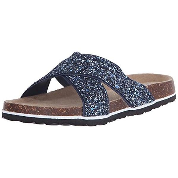 JSport by Jambu Womens Grace Slide Sandals Glitter Casual