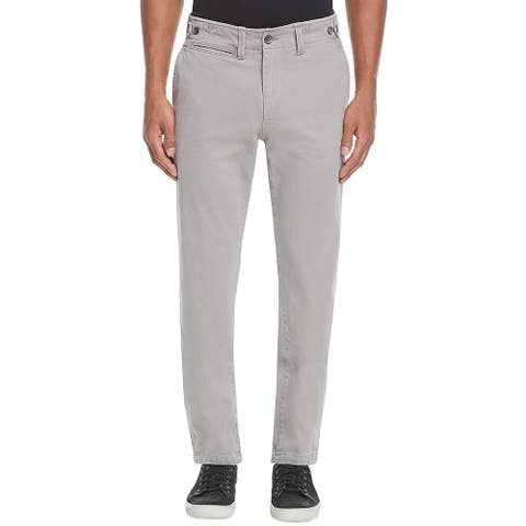 Eidos by Isaia Alloy Japanese Surplus Slim Fit Chinos Pants 28 x 32 Grey Italy