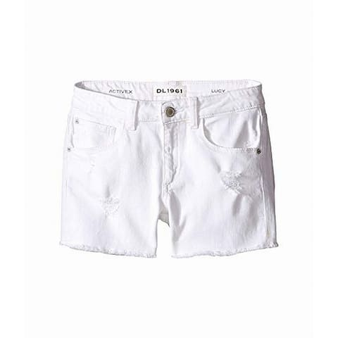DL1961 White Girls Size 4 Distressed Lucy Five Pocket Shorts