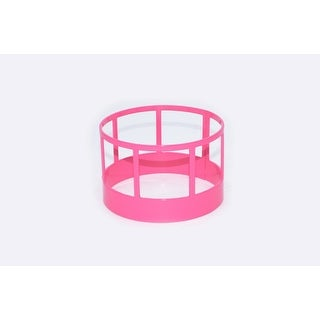 Little Buster Toy Heavy Duty Metal Cattle Hay Feeder Pink 500214