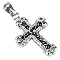 Cast Cross Stainless Steel Pendant (20 mm Width)