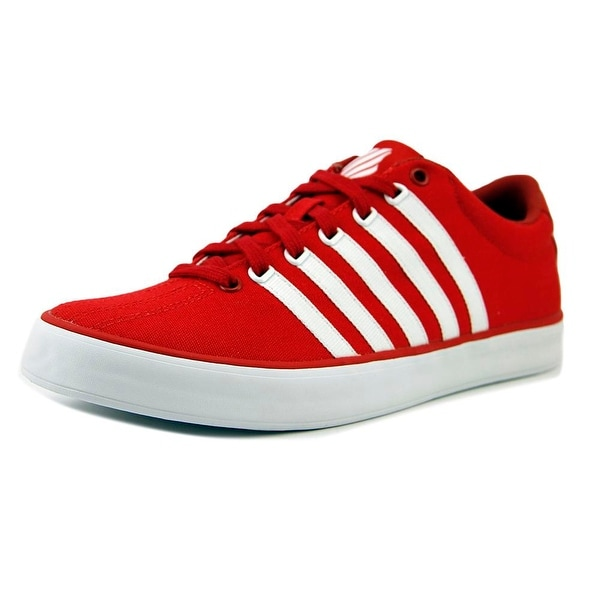 K-Swiss Court Pro Vulc Men Round Toe Canvas Red Sneakers