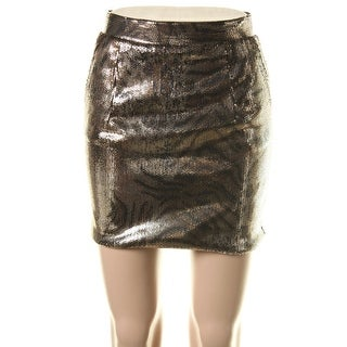 Zara W&B Collection Womens Sequined Animal Print Mini Skirt