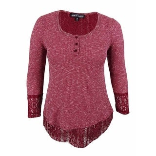 Almost Famous Juniors' Long Sleeve Hi-Low Swing Sweater Top - xL