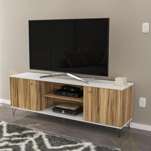 "Boahaus Louisville TV Stand, TVs up to 70"", 02 cabinets, 02 shelves - 65 inches in width"