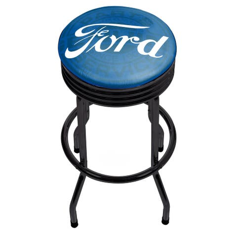 Ford Black Ribbed Bar Stool - Ford Genuine Parts