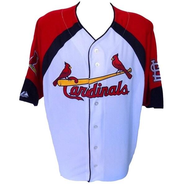 wholesale dealer 042d0 4ad53 St. Louis Cardinals Majestic Wheel House White Jersey Size 2XL