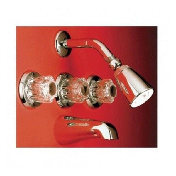 Shop Ldr 013 8500cp Chrome 3 Handle Tub Shower Faucet Set Free
