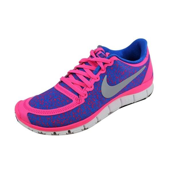 Nike Women's Free 5.0 V4 Hyper Pink/Metallic Platinum-Hyper Cobalt 511281-605