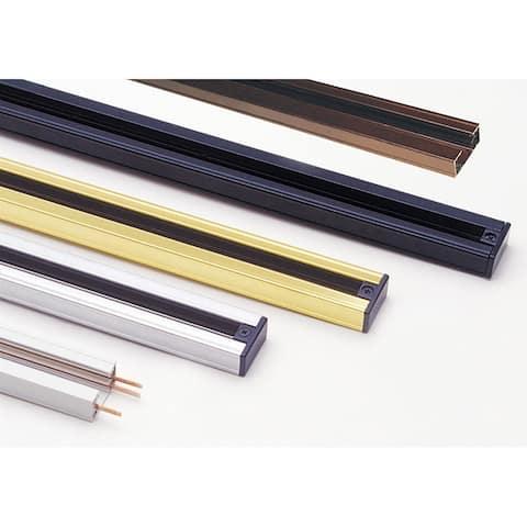 8 Feet Metal 3 Wire Track Lighting Extension Rod, Brass