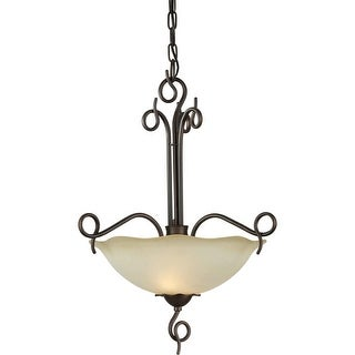 Forte Lighting 2463-02 16Wx22.5H 2 Light Bowl Pendant