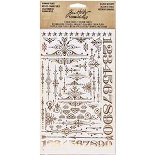 """Gilded Accents -Idea-Ology Remnant Rubs Foil Rub-Ons 4.75""""X7.75"""" 2Pk"""