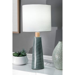 "Link to nuLOOM 29'' Florence Ceramic & Wood Linen Shade Table Lamp - 29"" h x 13"" w x 13"" d Similar Items in Table Lamps"