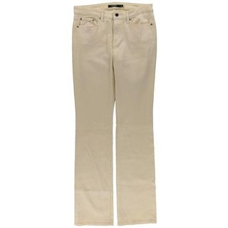 Lauren Ralph Lauren Womens Plus Barnaby Straight Leg Jeans Shimmer Coated