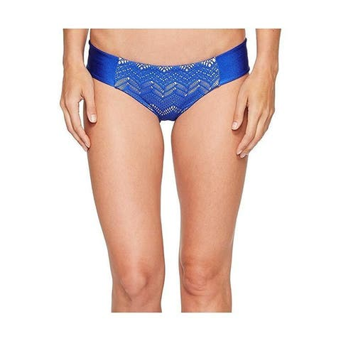 Luli Fama Women's Tropical Princess Tab Sides Full Bottom Electric Blue Small