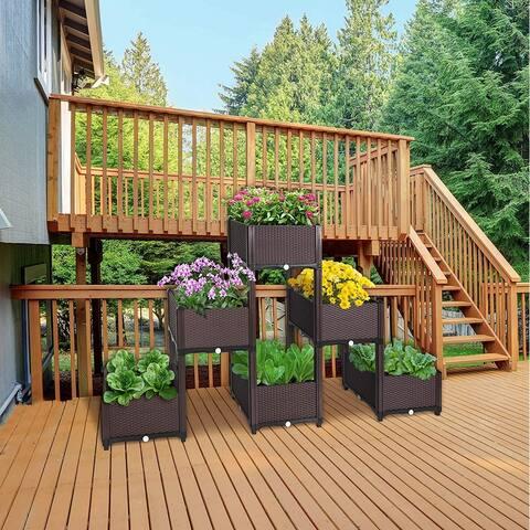 DIY Elevated Garden Vegitable and Flower Planter Box Kit