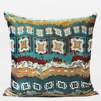 """G Home Collection Luxury Green Tribe Pattern Jacquard Pillow 20""""X20"""""""