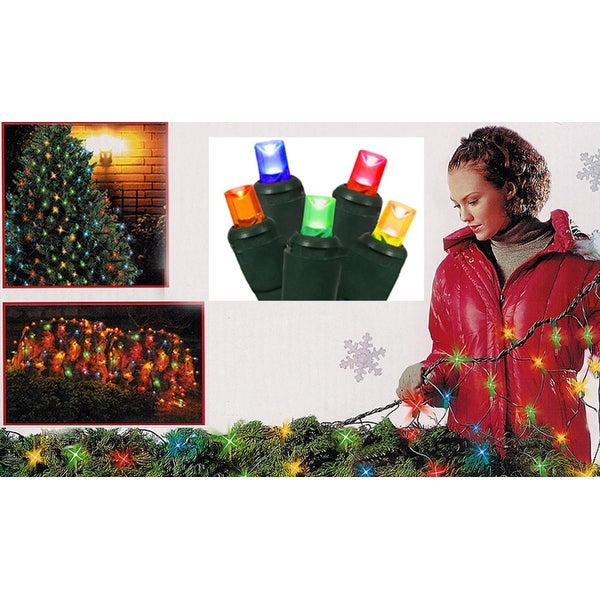 4' x 6' Multi-Color Wide Angle LED Net Style Christmas Lights - Green Wire - multi