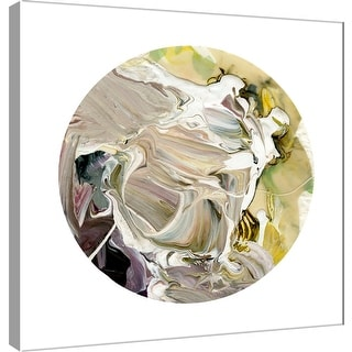 "PTM Images 9-101111  PTM Canvas Collection 12"" x 12"" - ""Painterly Circle on White D"" Giclee Abstract Art Print on Canvas"