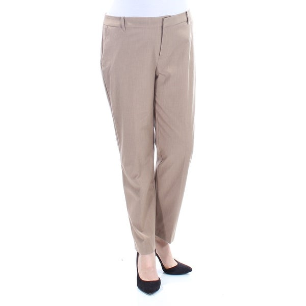 3afdda029 Shop Womens Brown Wear To Work Straight leg Pants Size 14 - Free Shipping  On Orders Over $45 - Overstock - 21353042