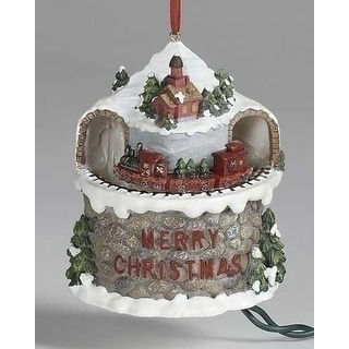 "Woodland Splendor Evergreen Express ""Merry Christmas"" Pigtail Ornament"