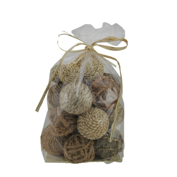 Earthy Brown 40 Piece Natural Mixed Material Decorative Balls Free Simple Natural Decorative Balls