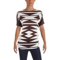 Lauren Ralph Lauren Womens Casual Top Pattern Linen