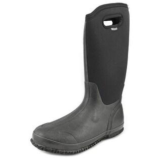 Bogs Classic High Women  Round Toe Canvas Black Rain Boot