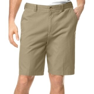 Geoffrey Beene NEW Beige Mens Size 33 Flat Front Khakis Chinos Shorts