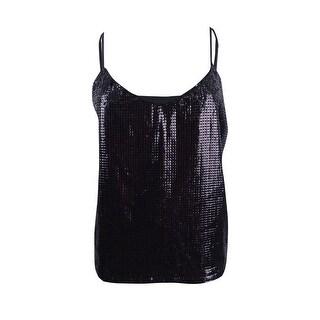 Vince Camuto Women's Sequined Camisole (M, Rich Black) - rich black - M