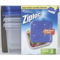 Ziploc 70937 Snap 'N Seal Square Food Storage Container, 40 Oz