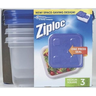 Ziploc 70937 Snap 'N Seal Square Food Storage Container, 40 Oz