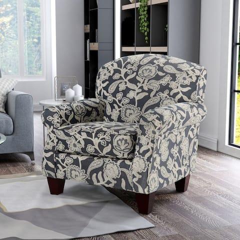 Furniture of America Kilmettin Transitional Floral Pattern Armchair