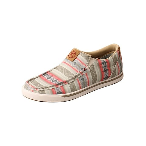 HOOey Casual Shoes Womens Canvas Classic Loper Pink Multi