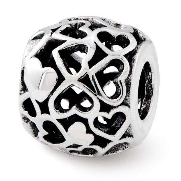 Sterling Silver Reflections Hearts Bali Bead (4mm Diameter Hole)