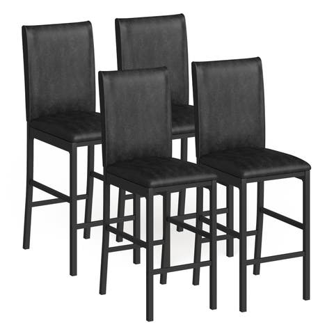 Darcy Metal Upholstered Counter Height Dining Chairs (Set of 4) by iNSPIRE Q Bold