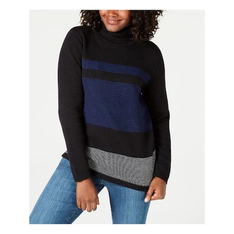 KAREN SCOTT Blue Long Sleeve Sweater S
