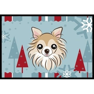 Carolines Treasures BB1747MAT Winter Holiday Chihuahua Indoor & Outdoor Mat 18 x 27 in.