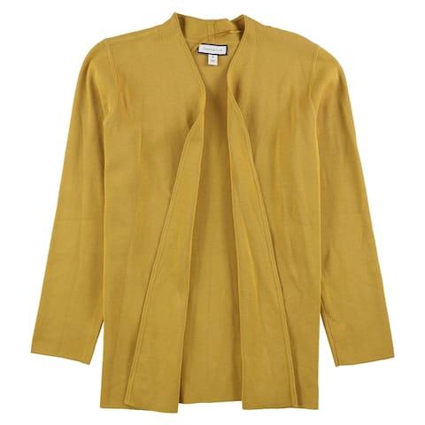 Charter Club Womens Solid Cardigan Sweater, Yellow, Medium