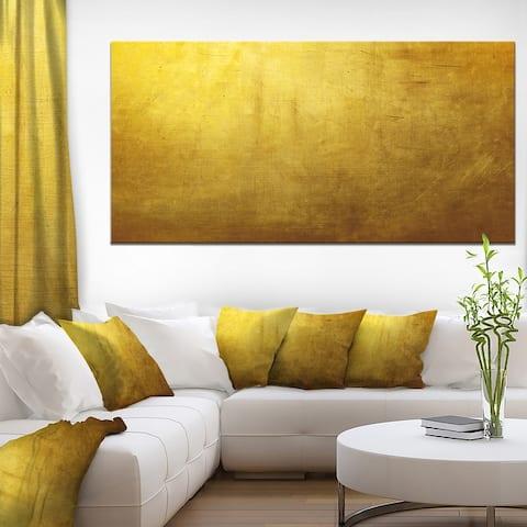 Designart 'Gold Texture' Abstract Canvas art print