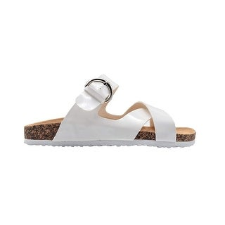 Link to Via Rosa Ladies Footbed Sandal Slip On Slide Shoe with Cross Straps Similar Items in Women's Shoes