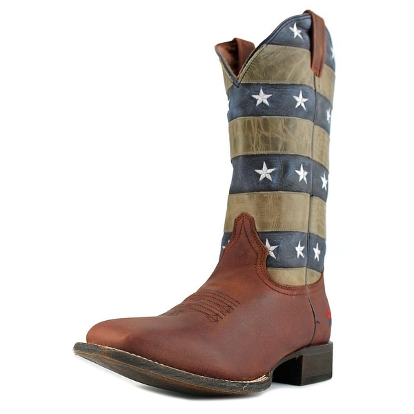 Redneck Riviera Panhandle Wide Square Square Toe Leather Western Boot