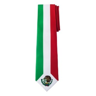 Jacob Alexander Mexico Country Flag Colors Men's Necktie - Mexican Vertical Green White Red Colors Stripe Design