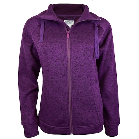 Victory Outfitters Heather Fleece Knitted Zip Up Jacket