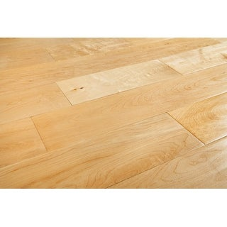 "Kanstar Engineered Hardwood - 17.5 sq. ft. Derby Collection Maple / Natural / 5"" / 9/16"" / Random Lengths"