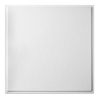 Genesis Stucco Pro Revealed Edge White 2 x 2 ft. Lay-in Ceiling Tiles