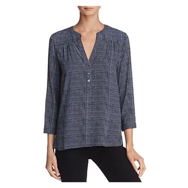f2495444a3585 Shop Soft Joie Womens Rosalynn Henley Top Printed Three-Quarter Sleeve -  XXS - Free Shipping On Orders Over  45 - Overstock - 25604498