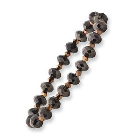 Dark Brown Crystal Bead Stretch Bracelet