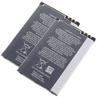 New Replacement Battery for Nokia BP-4L BLI-1141-1.3 Phone Models 2 Pack