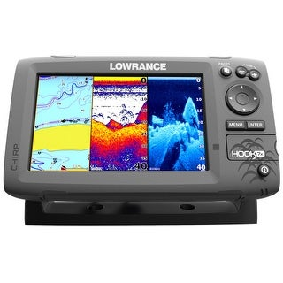 Lowrance 055-12664-001 Hook-7 HDI Mid/High/Downscan Fishfinder HOOK-7 Combo w/83/200/455/800 HDI Transom Mount Transducer